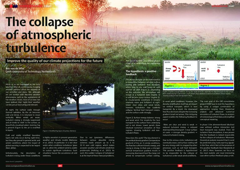The collapse of atmospheric turbulence
