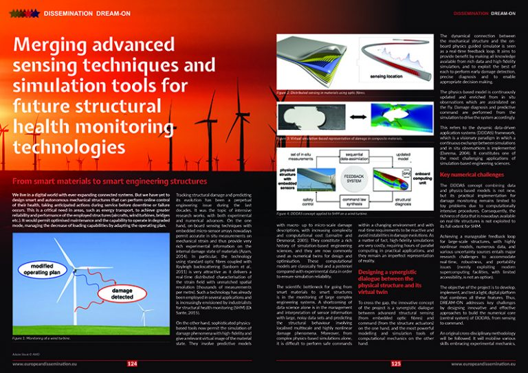 Merging advanced sensing techniques and simulation tools for future structural health monitoring technologies