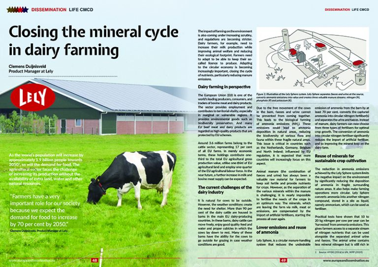 Closing the mineral cycle in dairy farming
