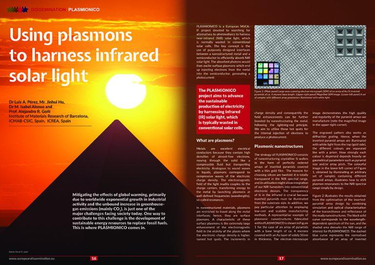 Using plasmons to harness infrared solar light