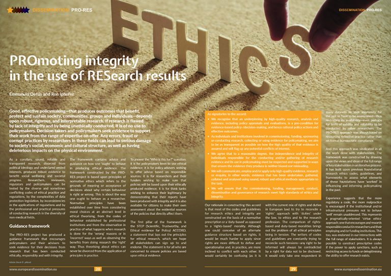PROmoting integrity in the use of RESearch results