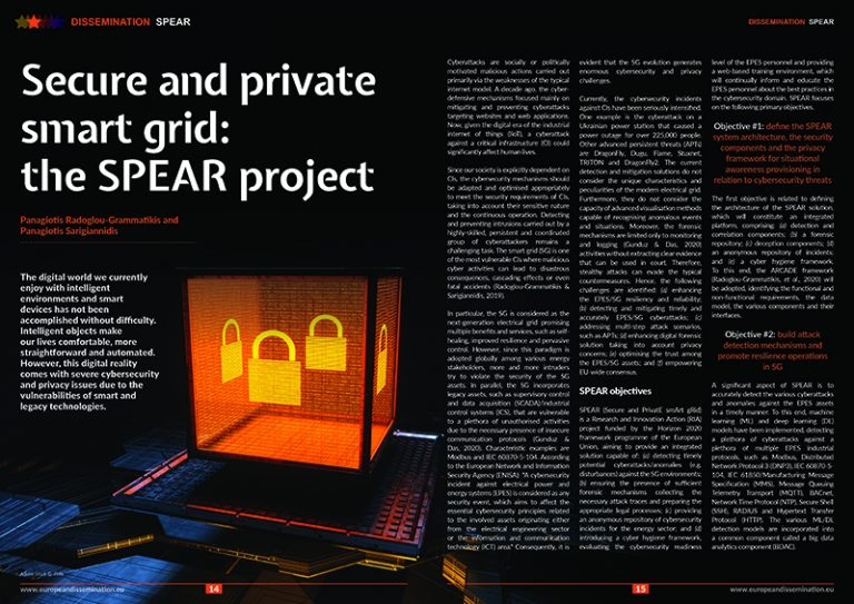Secure and private smart grid: the SPEAR project