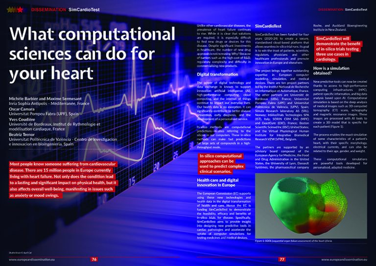 What computational sciences can do for your heart