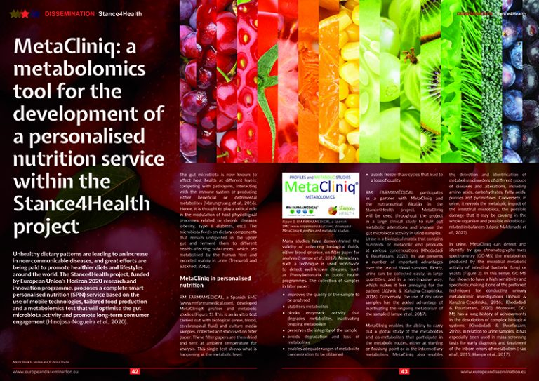 MetaCliniq: a metabolomics tool for the development of a personalised nutrition service within the Stance4Health project